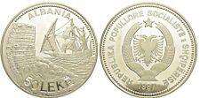 More details for albania shqipni silver coin argjend 50 leke 1987 kalaja durresit kosovo rare
