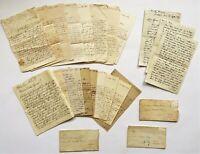 Konvolut 24 Handschriften  Briefe Belege ab 1848 Schönjohnsdorf Merzwiese Berlin