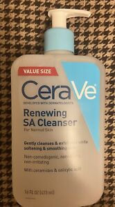 CeraVe Renewing SA Cleanser Normal Skin with Ceramides & salicylic acid 16oz NEW