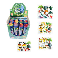 Toy Play Set in a Tube Farm, Safari, Insects, Sealife, Reptiles, Dinosaurs NEW