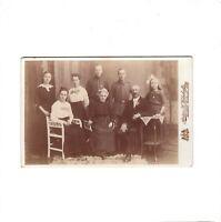 CAB Foto Soldaten mit Familie - Bielefeld 1890er