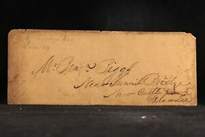 Delaware: C(antwell's) Bridge 1850 (circa) Legal Size Cover, Ms, New Castle Co