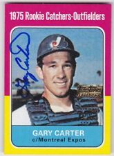 2002 TOPPS TEAM LEGENDS GARY CARTER AUTO AUTOGRAPH 1975 REPRINT CARD #TT-GC