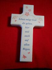 Kinderkreuz Holzkreuz Taufkreuz hell-blau Geburt Taufgeschenke Taufe Kommunion