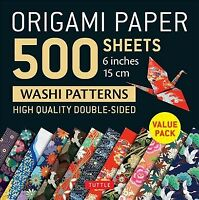 Origami Paper 500 Sheets Japanese Washi Patterns 6 in 15 Cm : High-Quality, D...
