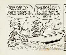 NEW LISTINGRocky and Bullwinkle Original Ink Daily Comic Strip Art signed Al Kilgore 1963 Comic Art