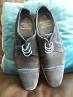 BARKER CREATIVE COLLECTION SHOES SIZE 9 NAVY BLUE BROGUES SUPERB SHOES VGC SUEDE