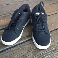 Heelys Black White Skate Sneakers Mens 7 UK 6 EUR 39 Athletic Roller Sk8 Shoes