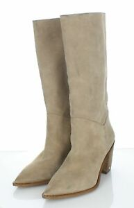 V2 NEW $225 Women's Sz 10 M Sam Edelman Leahla Suede Pointy Toe Mid Boots