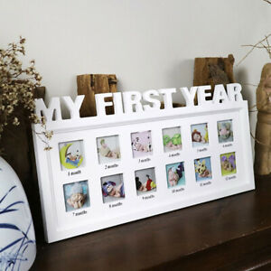 INFANTS BABY FIRST YEAR 12 MONTH PICTURE PHOTO FRAME GROWING SOUVENIR HOME DECOR