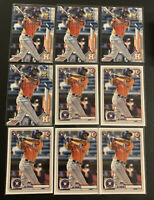 (9) 2020 Topps Series YORDAN ALVAREZ RC Rookie Card Lot Astros RC #63 Bowman #25