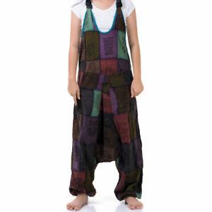 Patchwork Jeans Jumpsuit Jumper Overall Haremshose Thai Hippie Hose Ethno Boho