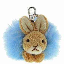 Beatrix Potter Peter Rabbit Pom Pom Keyring - Plush Toy Bag Clip Keychain