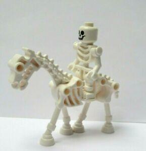 Lego Skeleton Minifigure Figure Skull Head & Horse Halloween Monster Soldier