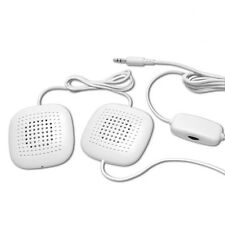 Sound Oasis SP-101 Sleep Therapy Pillow Speakers With Volume Control (White)