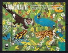 GB mint stamps - 2011 World Wildlife Fund WWF Amazon Live Minisheet, MS3172, MNH
