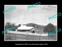 OLD LARGE HISTORIC PHOTO OF COPMANHURST NEW SOUTH WALES POLICE STATION c1920