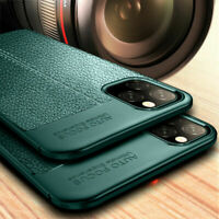 For iPhone 11 Pro Max Silicone Rubber TPU Texture Soft Back Cover Case 4 Colors