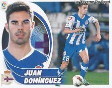 10 JUAN DOMINGUEZ ESPANA RC.DEPORTIVO STICKER CROMO LIGA 2013 PANINI