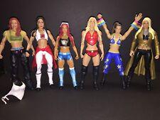 Lot Of 6 WWE Women Divas Action Figures Sasha Charlotte Bayley Maryse Brie Lita
