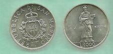 SAN MARINO 1987 LIRE 1000 ARGENTO FIOR DI CONIO ARGENTO SANTO MARINO FDC UNC