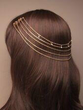 Boho Festival Hair Chains Head Piece Hair Jewellery Head Chains Gold Silver