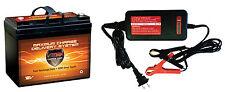 VMAX857 + BC1204: 12V 35Ah AGM SLA battery + Charger for Power Vac PV2100