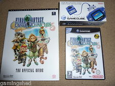FINAL FANTASY CRYSTAL CHRONICLES + OFFICIAL GAMEBOY LINK CABLE & GUIDE GAMECUBE