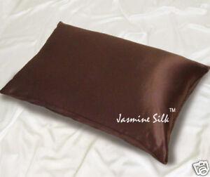 Jasmine Silk Pair Pure Silk Pillow cases Chocolate