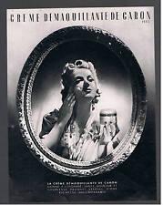 CARON CREME    ANCIENNE PUBLICITE 1947  AD pub