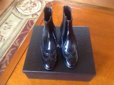 Chanel Patent Leather Baroque Short Boots Sz 35.5