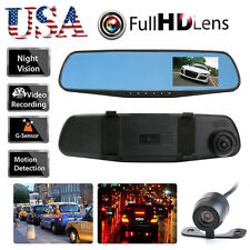 1080P Car Rearview DVR Dual Dash Cam Camera Vehicle Front Rear Video Recorder US