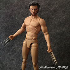 """1/6 scale Wolverine Hugh Jackman with a metal claws 12"""" Muscular figure body"""