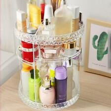 360 Degree Rotating Spin Acrylic Cosmetic Makeup Organizer Box Storage Rack Case