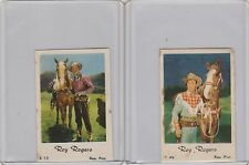Roy Rogers Vintage Republic Pictures Cards (1950's?) #E-12 and 1AB