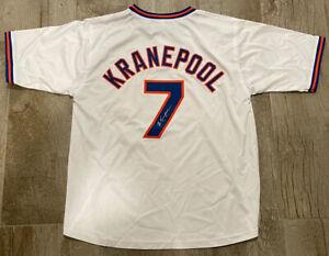 ED KRANEPOOL NEW YORK METS SIGNED CUSTOM #7 JERSEY XL *PSA JSA GUARANTEE*