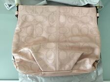 Coach 19407 Perforated Leather Duffle Blush Brand New