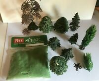 PECO SCENE PS13 SPRING GRASS AND JOB LOT ASSORTED TREES INC BRITAINS TREE