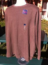 Men's New With Tags Croft & Barrow Knit, Brown, Size Large