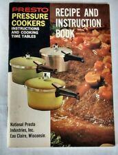 Vintage 1970 Presto Pressure Cooker Owners Manual Recipe Instruction Booklet