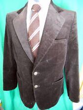 Vintage 70s Fletcher Jones Plush Brown Velvet Jacket Formal Prom Tuxedo Style 38