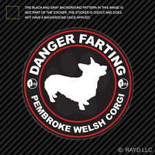 Danger Farting Pembroke Welsh Corgi Decal Self Adhesive Vinyl dog canine pet