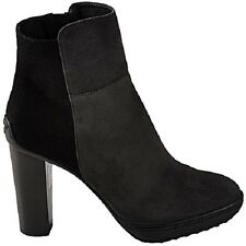 Tod's heel ankle boots stivaletti tg 38.5 uk 5.5 grey + black nero + grigio