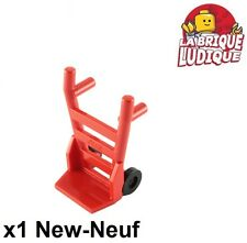 Lego - 1x Minifig utensil chariot diable hand truck rouge/red 2495 + 2496 NEUF