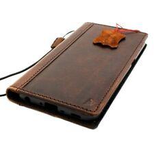 Genuine vintae leather case for LG V50 book cards wallet slim cover book strap