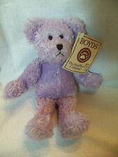 """Sweet Boyds Bears Plush 8"""" LAVENDER Bear ' Mom is Praying for You ' w/tag"""