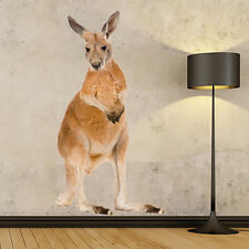 LIFE SIZE ROSSO CANGURO fotorealistici Rimovibile Adesivi MURALI Wall Sticker animale