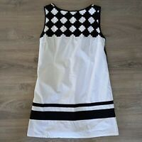 Pygmes Size XL Black & White Arty Funky Shift Dress Bold Patterned Women's