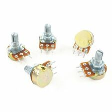 5 X  B100K B Type Linear Taper Rotary Potentiometer Panel pot 100Kohm