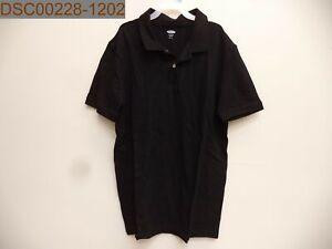 """Old Navy Boy's Pique Polo, XL (14-16), Black, 495109110857, 17"""" Bust, 27"""" Length"""